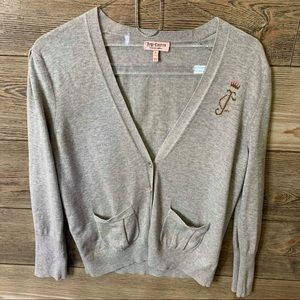 JUICY COUTURE V Neck Button Front Cardigan SIZE L